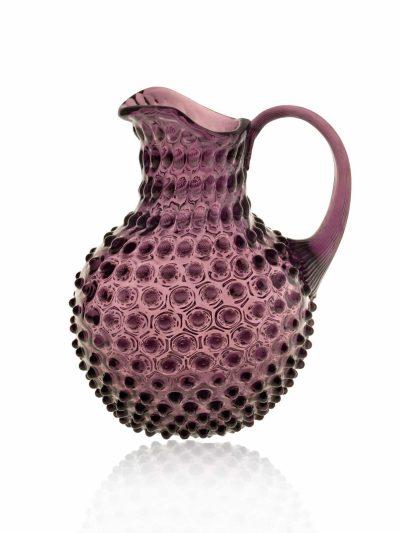 mørk violet kande, pindsvineglas,pindsvinekande, anna von lipa glas, glas fra anna von lipa, kande, 2 liters kande, remix by sofie