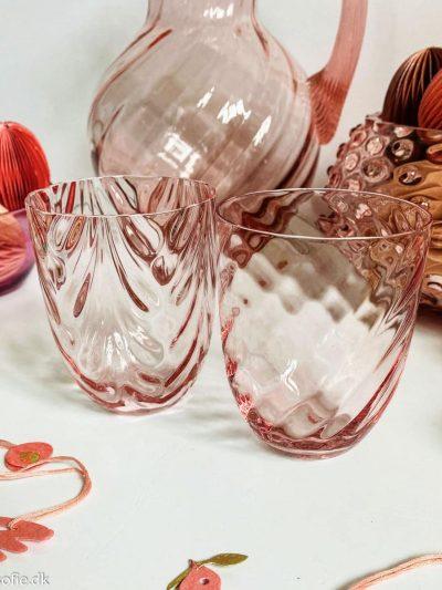 anna von lipa swirl glas i lyserød rosa