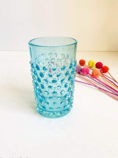 Pindsvineglas i lys aqua