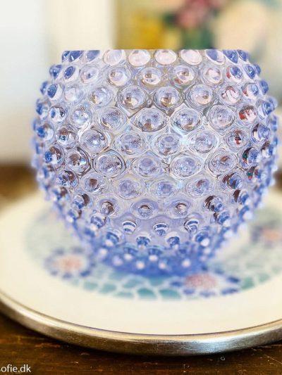 pindsvine vase 18 cm i syren lilla