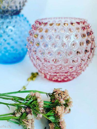 Pindsvine vase i lyserød