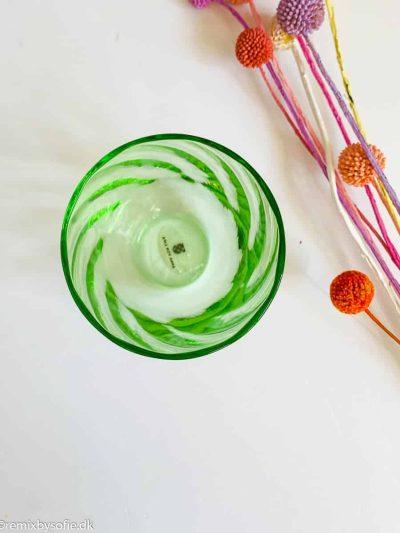 Anna von lipa Swirl glas i lysegrøn