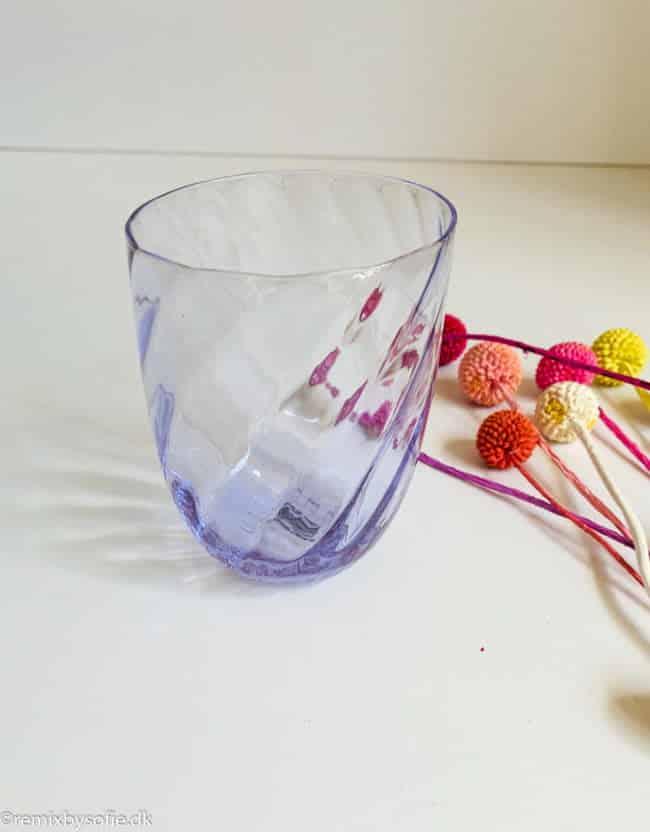 Anna von lipa Swirl glas i syren lilla