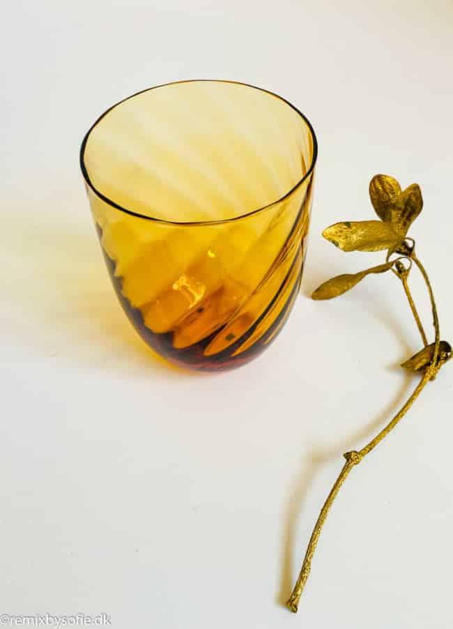 anna von lipa swirl glas mørk amber
