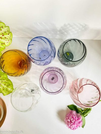 swirlvase, mundblæst vase,vase i swirl, anna von lipa vase, vase, blomstervase,