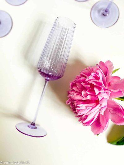 mundblæste champagnefløjter, champagneglas,