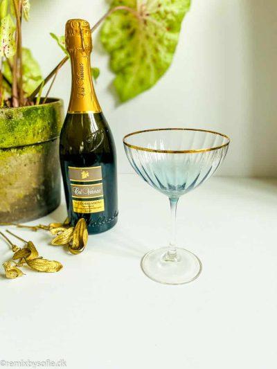 kate champagne skål champagneglas krystal med guldkant i beryl