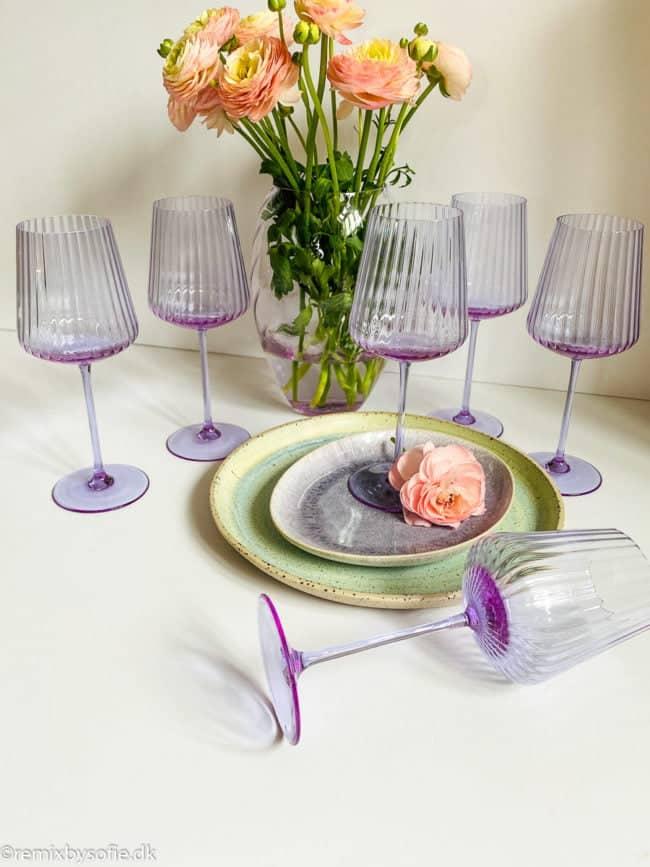 mundblæst vinglas, mundblæst rødvinsglas, rødvinsglas remix by sofie,remixbysofie