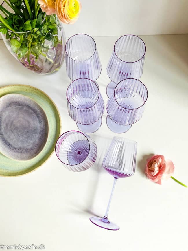 mundblæst vinglas, mundblæst rødvinsglas, rødvinsglas remix by sofie, remixbysofie