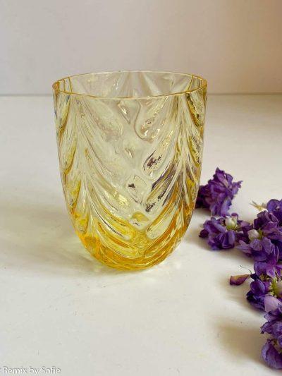 anna von lipa, harlekin kongeblå, mix & match glas, mundblæst glas