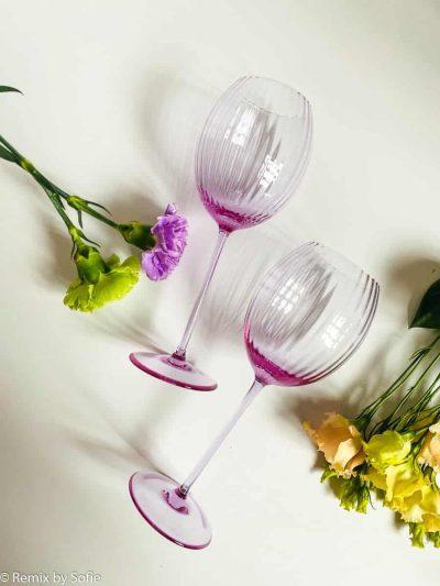 mundblæste vinglas, hvidvinsglas