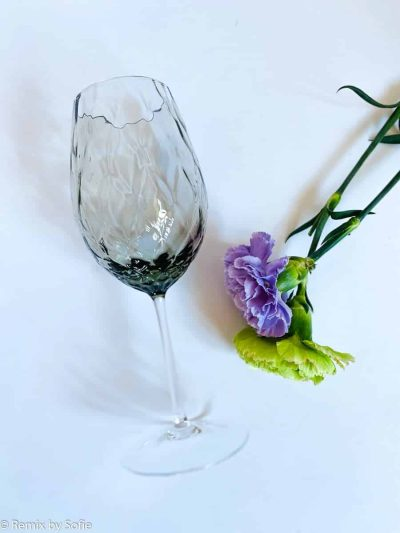 mundblæst vinglas