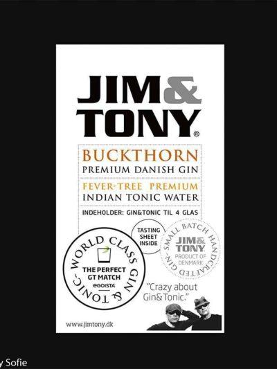gin, jim & tony, prisvindende gin, sølvmedalje, håndlavet gin