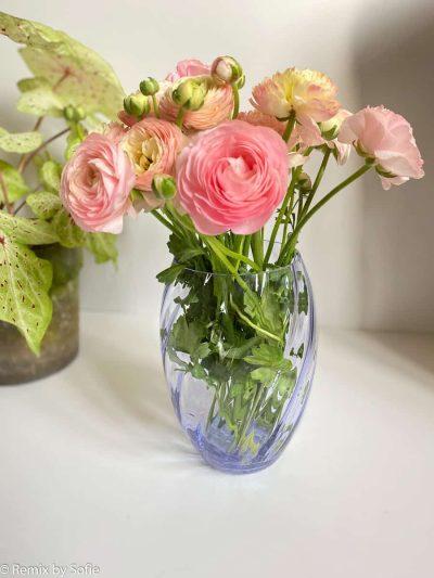 anna von lipa, blomster vase, vase, flowervases, elipse, twistes glas, swirlvase, swirl,