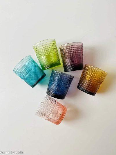 remix by sofie, remixbysofie, multicolor, speedy glas, farvede glas, mundblæst glas, glas fra italien, ivv,