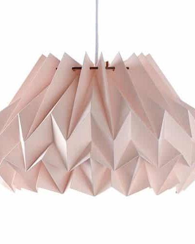 lampeskærm, papirsskærm, lampeskærm i papir, håndlavet lampeskærm, pliceret lampeskærm