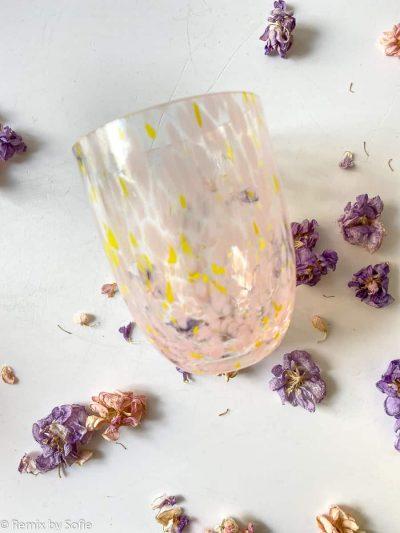 mundblæst glas, confetti, farvet glas, opal glas, opalglas,bordækning,anna von lipa mix & match, swil glas, wawe glas, harlekin glas, tumbler, vand glas, drikkeglas, drinking glass, kolorit