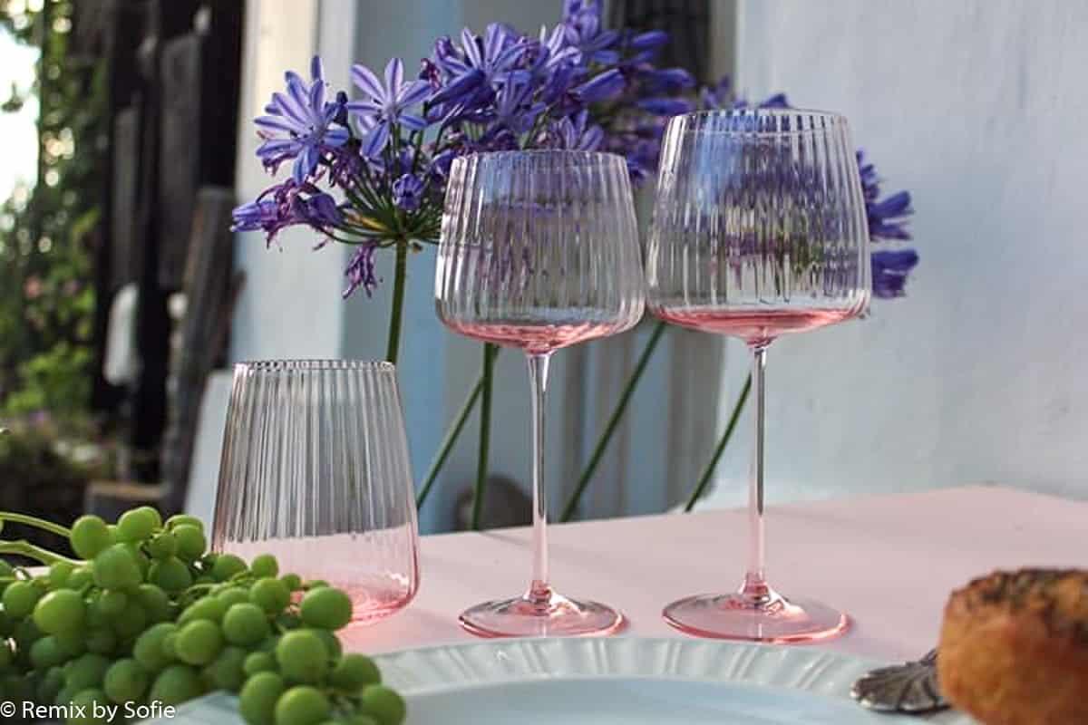 anna von lipa glas, anna von lipa vinglas, vinglas, wineglass, glas til vin, mundblæst glas, vinglas, borddækning, lyon vinglas,