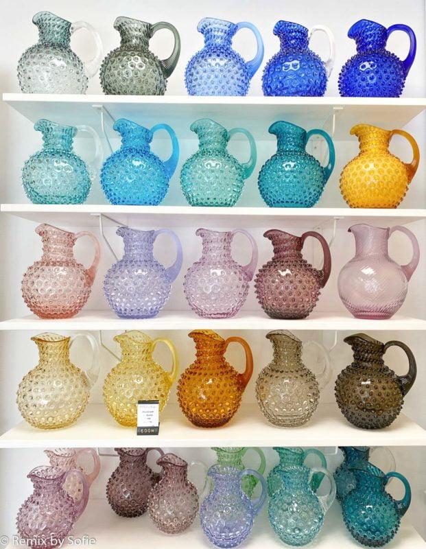 tienda, imagen de la tienda, jarra, jarras, jarra de erizo, jarras en vidrio de erizo, jarras de erizo de anna von lipa
