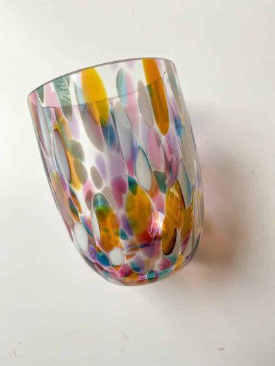 remix by sofie, mundblæste glas, glas med opal spots, anna von lipa mix & match, swil glas, wawe glas, harlekin glas, tumbler, vand glas, drikkeglas, drinking glass, anna von lipa