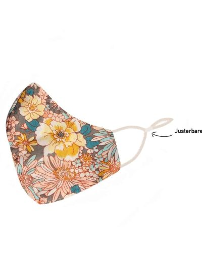 remix by sofie, stofmundbind, mundbind, mundbind med blomster, stof mundbind, bows by stær mundbind,