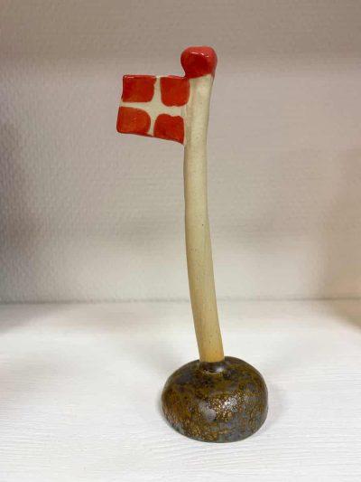flag, fødselsdags flag, keramik flag, flag på fod