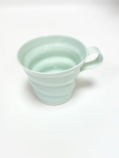 rikke maglesen keramik, porcelæns kop, kaffe kop, kop, pastelfarvet kop, kaffekop, tekop
