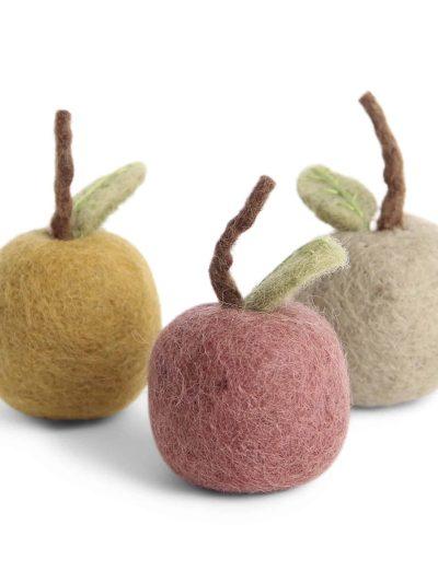 æbler, filtede æbler, til grene, påskepynt, marmore, filt fugle, håndlavaet filt pynt, økologisk uld, fairtrade, remix by sofie , én gry & sif, en gry & sif, filt julepynt, pynt i filt, filt fra nepal