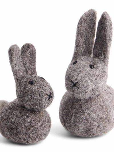filtede kaniner, påskepynt, marmore, filt fugle, håndlavaet filt pynt, økologisk uld, fairtrade, remix by sofie , én gry & sif, en gry & sif, filt julepynt, pynt i filt, filt fra nepal