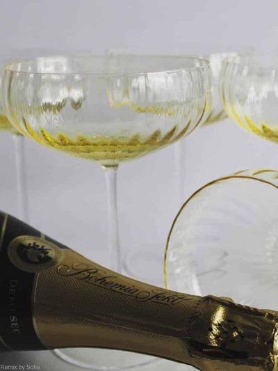 remix by sofie, anna von Lipa, Champagne skål, champagneskål, champagneglas, festglas