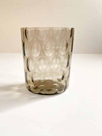 glas fra anne von lipa, london glas, mundblæst glas, handblown glas, sjusglas, drikkeglas, whiskyglas, glas til whisky, glas til gin & tonic, harlekin, olive, swirl glas