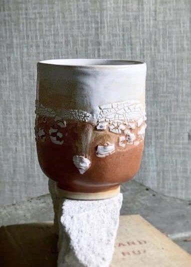 studio aarhus kop, keramik kop, kop i farver, stentøjs kop, kaffe kop, kaffekop, cappuccinoo kop, kop i keramik. retro kop, remix by sofie
