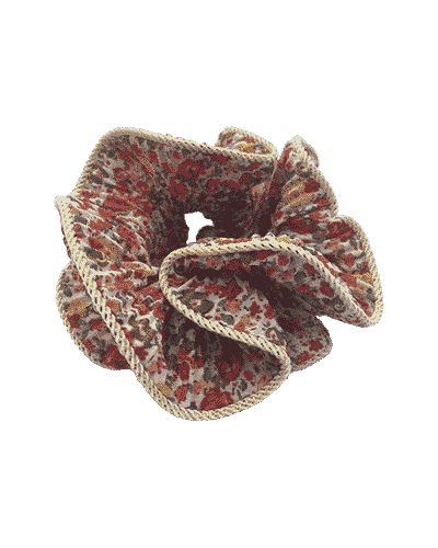 bow's by stær, scrunchie, lilje scrunchie, lilje, hårtilbehør, hårpynt, blomsterprint, blomster, blomsterscrunchie,
