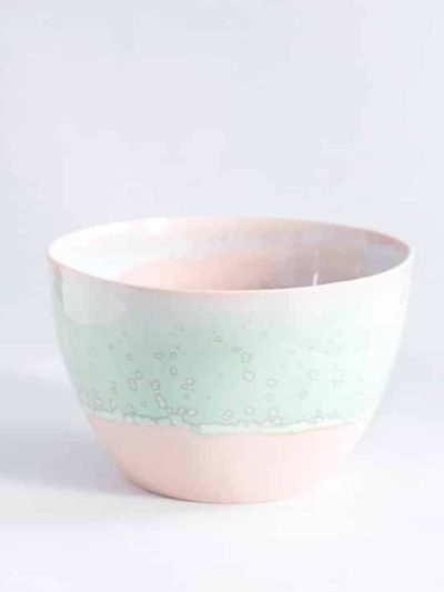 lena pedersen, remix by sofie, skål, håndlavet skål, håndlavet keramik, keramik, krystalglasur, pastel skål, lille skål,
