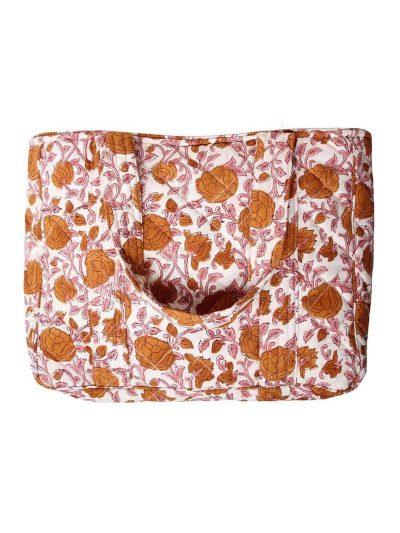 ellies and ivy, remix by sofie, taske, totebag, xl totebag, blomsterprint, organisk bomuld, rejsetaske, håndbagage, indkøbstaske, indkøbsnet,