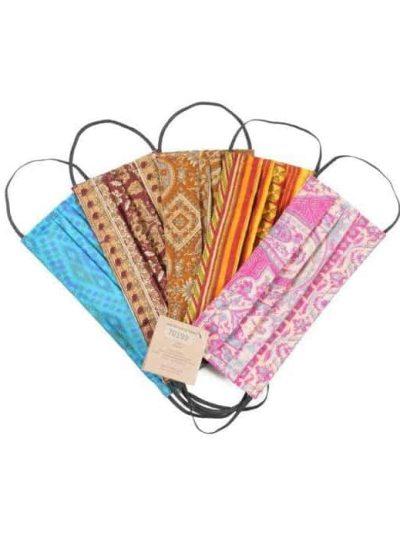 quote copenhagen, stofmundbind, mundbind, face mask, vintage, sari, sari face mask, sari vintage face mask, vintage mundbind,