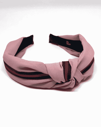 bow's by stær, hårbøjle, hårtilbehør, hårpynt, single stripe, rosa, red stripe, single stripe rosa, rosa hårbøjle,