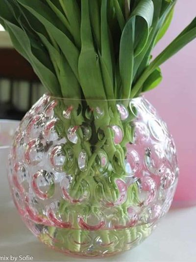 vase i oloive, aanna von lipa glas, anna von lipa vase, mundblæst vase