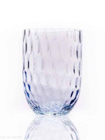 olive baby blue, anna von lipa, remix by Sofie, anna von lipa glas, mundblæste glas, handblown glass, glas, drikkeglas, vandglas, farvede glas, mix og matck glas, mix & matck glas, tumbler, wawe glas, swirk glas, harlekin glas, spiral glas, bambus glas, oliveglas, borddækning