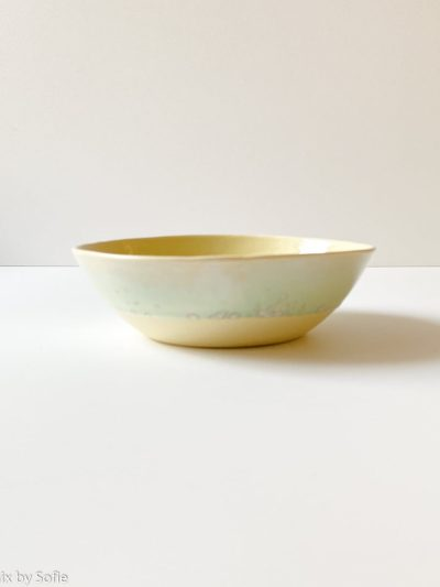lena pedersen, gule tallerken, gul skål, keramik skål, dyb tallerken