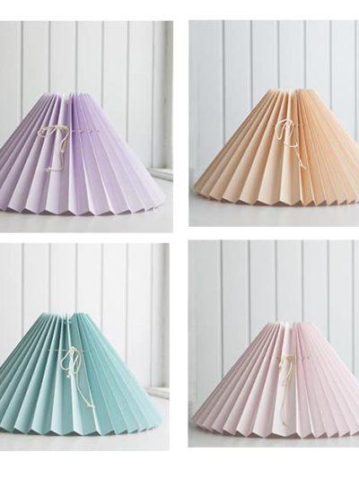 lampeskærm, remix by sofie, pink roses, pink roses lamper, plisseret lampeskærm,