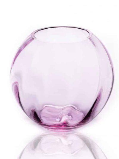 anna von lipa glas, anna von lipa vase, swirl vase, kuglevase i swirl, kuglevase i swirl lilla, neodym, bordækning, remix by sofie