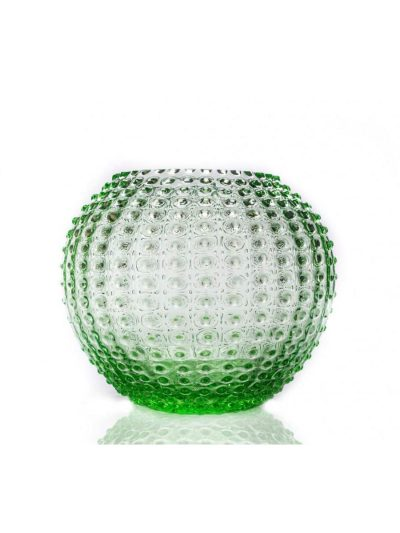 pindsvinevase 24 cm lysegrøn,anna von lipa glas, anna von lipa vase, remix by sofie,anna von lipa, vase, blomstervase, blomster vase, pindsvinevase, pindsvine vase, pindsvineglas, pindsvineglas vase, hobnail, flowervase