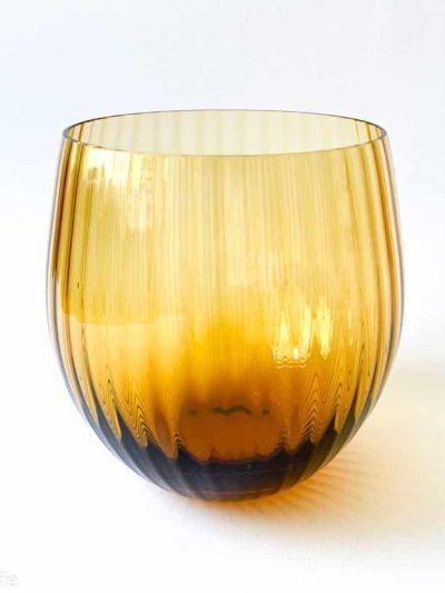 remix sjusglas mørk amber, mundblæst glas, tethys, vand glas, drikke glas, drinks glas